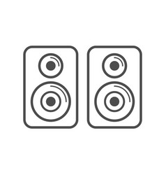 Speaker stereo simple icon white design vector