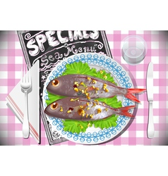Special Fish Dinner vector image