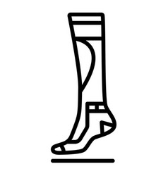 sport sock icon outline style vector image