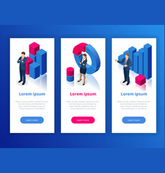 strategy and planning web banner data and vector image
