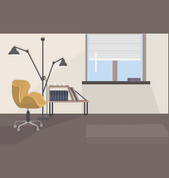 Stylish home modern living room interior empty vector