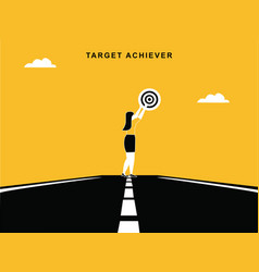 Target achiever woman vector