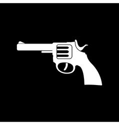 The revolver icon gun and weapon symbol flat vector