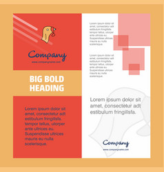 turkey company brochure title page design company vector image
