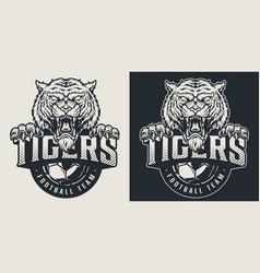 Vintage football team logotype vector