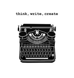 Vintage retro typewriter inspired storytellers vector