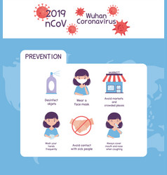 Virus covid 19 prevention tips washing hands vector