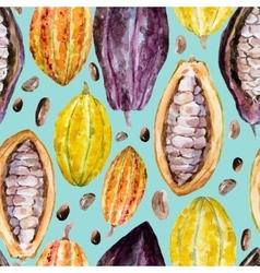Watercolor cocoa pattern vector