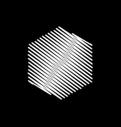 white hexagon scribble background vector image
