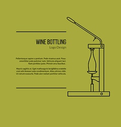 Winemaking wine tasting graphic design concept vector