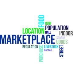 Word cloud - marketplace vector