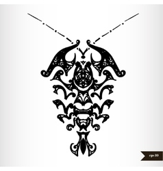 Zodiac signs black and white - Cancer vector