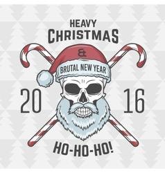 Bad santa claus biker with candies print design vector