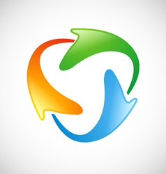 circle technology color logo vector image vector image