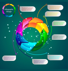 color volumetric info graphics for business vector image