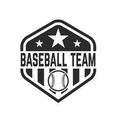 emblem with baseball ball design element for logo vector image vector image