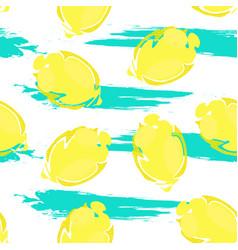 lemon pattern1 vector image