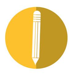pencil school utensil shadow vector image