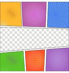 Speech Bubbles in Pop-Art Style background vector image vector image