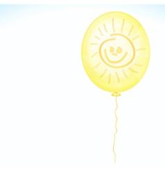 Yellow smile balloon vector image vector image