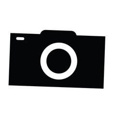 isolated camera silhouette vector image