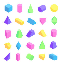 multicolored geometric shapes vector image vector image