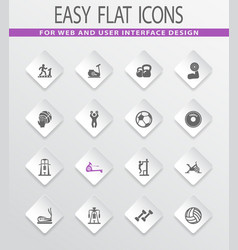 sport equipments icons set vector image vector image