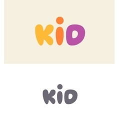 Kid logo design vector image vector image
