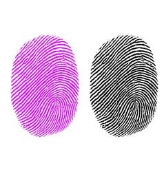 thumb impression vector image vector image