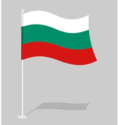 Bulgaria Flag Official national symbol of vector image vector image