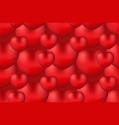 happy valentine s day realistic 3d heart seamless vector image