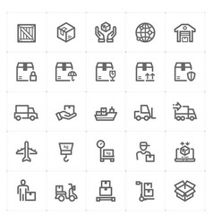 icon set - logistic and delivery vector image vector image