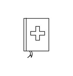 medicine book icon vector image vector image