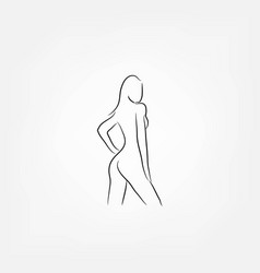 sexy woman vector image
