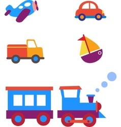 toy transportation set vector image