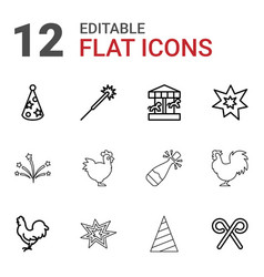 12 year icons vector