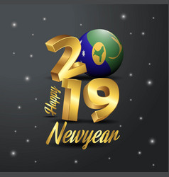 2019 happy new year christmas island flag vector