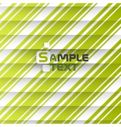 Abstract Green Stripe Background vector image