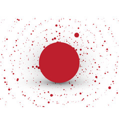 abstract red circle dots background vector image