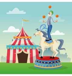 Activities of carnival and festival design vector