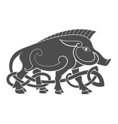 ancient celtic mythological symbol boar vector image