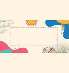 Art style geometric element colorful design vector