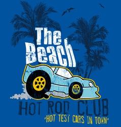 Beach car vector