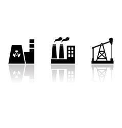 black industrial set vector image