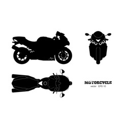 black silhouette motorcycle vector image