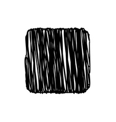 black square scribble background vector image