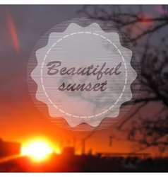Blurred photographic background and text vector image