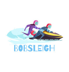 bobsleigh sports vector image