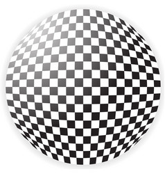 Bulging checkered pattern checkered sphere vector