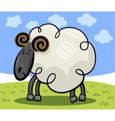 Cartoon of ram or sheep vector